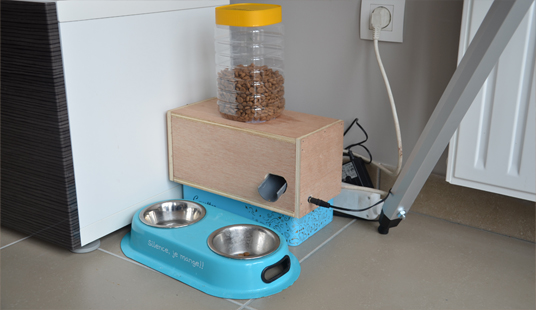 diy r alisation d 39 un cat feeder contr l par arduino. Black Bedroom Furniture Sets. Home Design Ideas