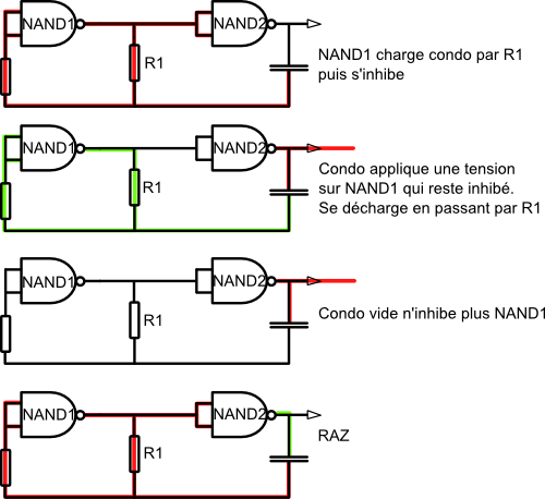 Diy oscillateur portes logiques for Porte xor avec nand