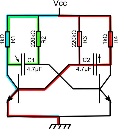 Diy oscillateur npn for Bascule transistor