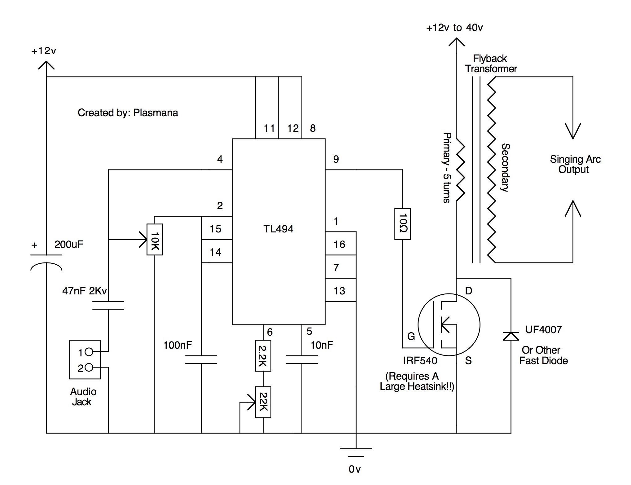 Diy R 233 Alisation D Un Plasma Speaker